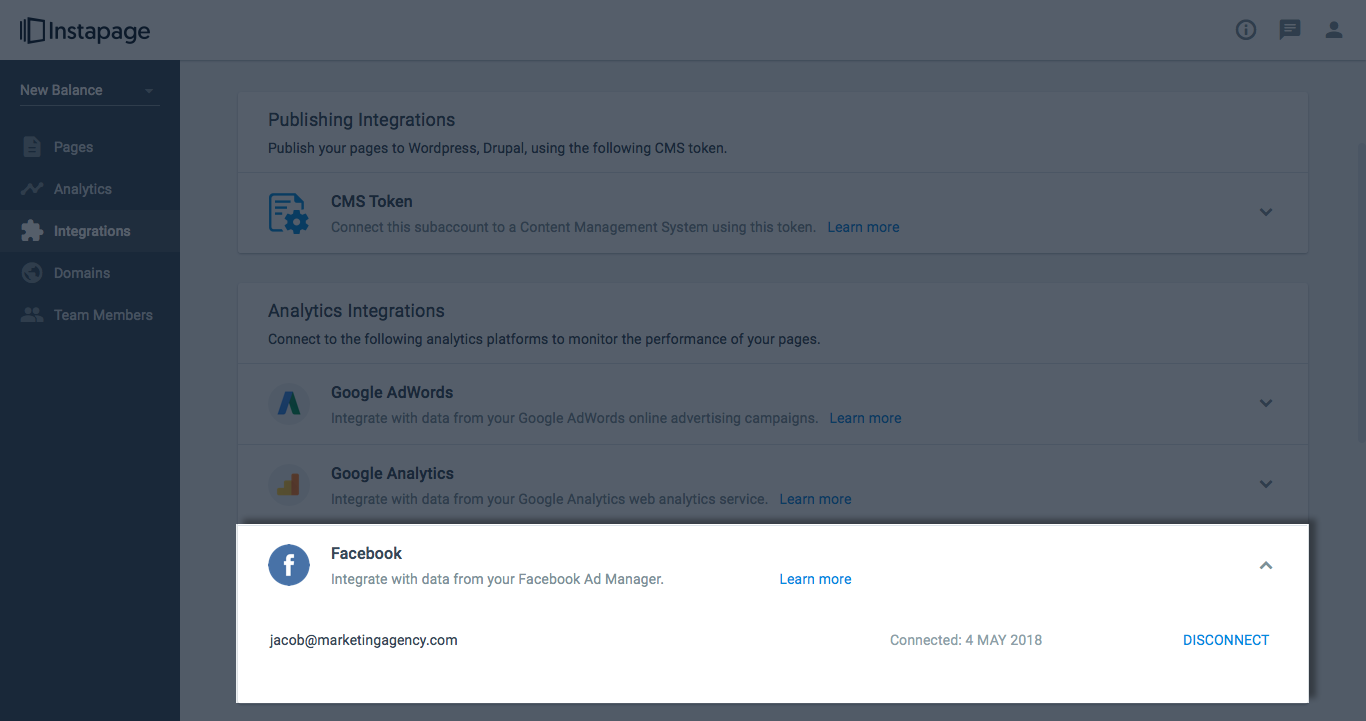 Only From Instapage: Complete Facebook Ads Conversion, Cost