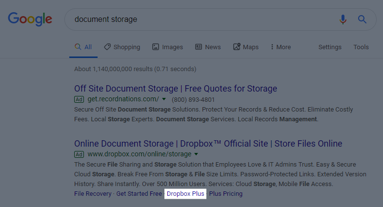 Look How Dropbox Uses Segmented Ads & Post-Click Experiences
