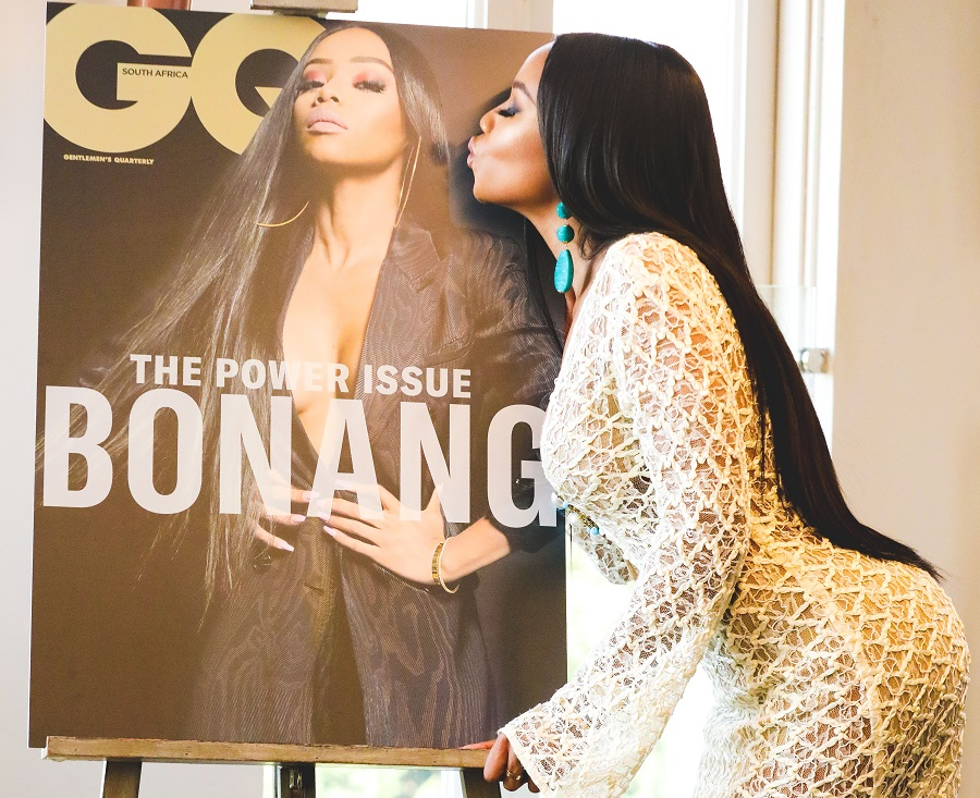 "Bonang Matheba Covers GQ magazine ""Power Issue"""