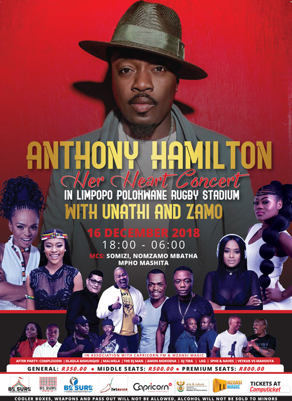 496b7496c0a2 Anthony Hamilton s Her Heart Concert in Polokwane 16 Dec