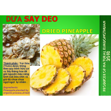 Dứa Sấy Dẻo DRIED PINEAPPLEs