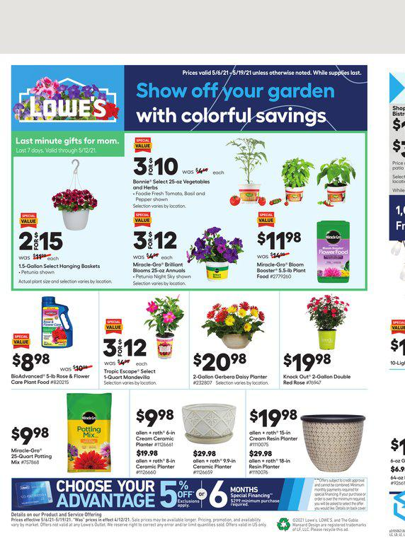 06.05.2021 Lowes ad 1. page