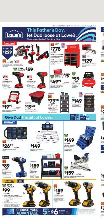 10.06.2021 Lowes ad 1. page