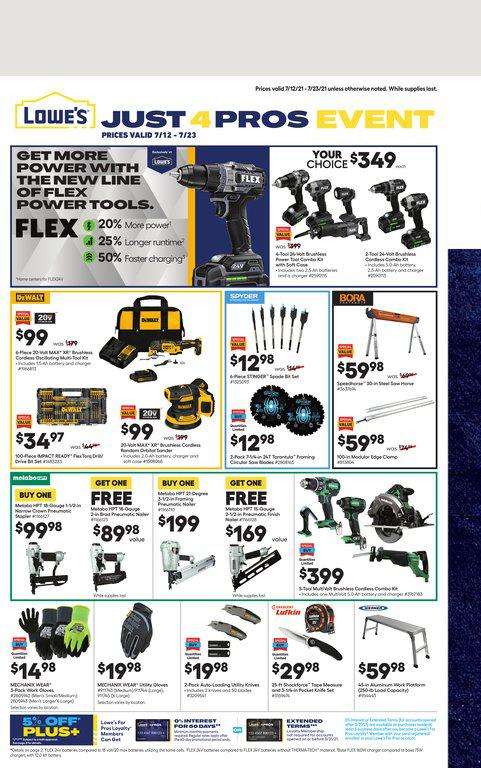 12.07.2021 Lowes ad 1. page