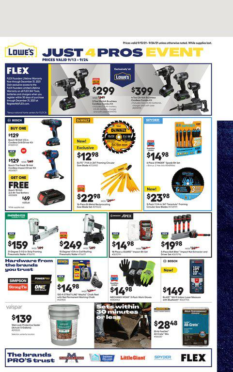 13.09.2021 Lowes ad 1. page