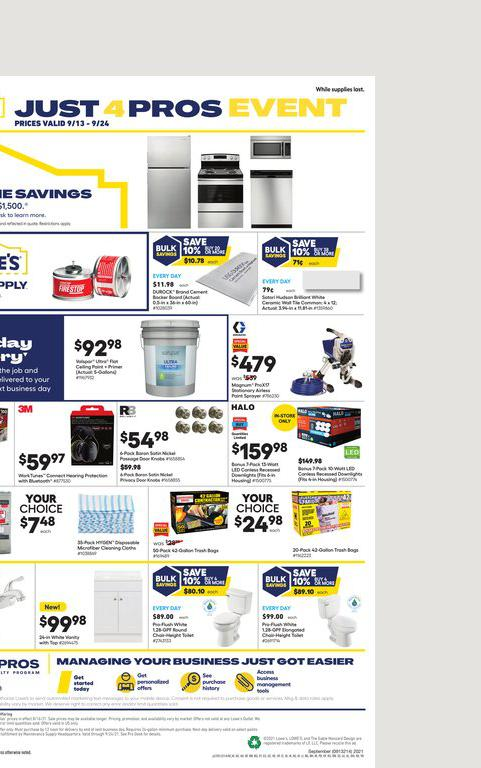 13.09.2021 Lowes ad 3. page