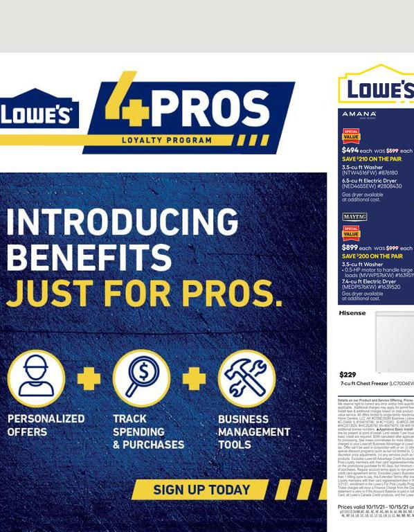 11.10.2021 Lowes ad 2. page