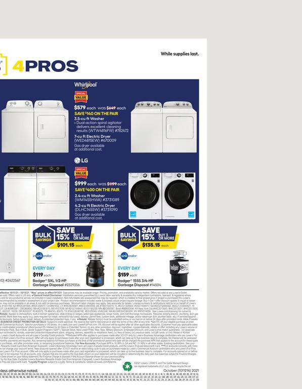 11.10.2021 Lowes ad 3. page