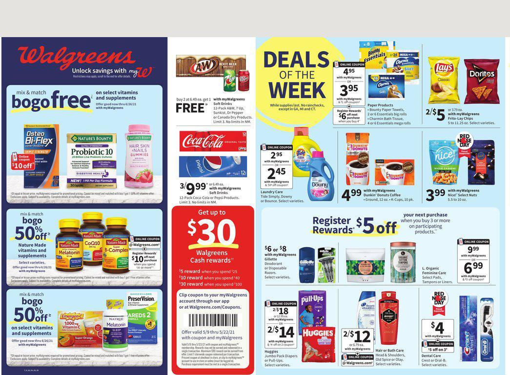 09.05.2021 Walgreens ad 1. page