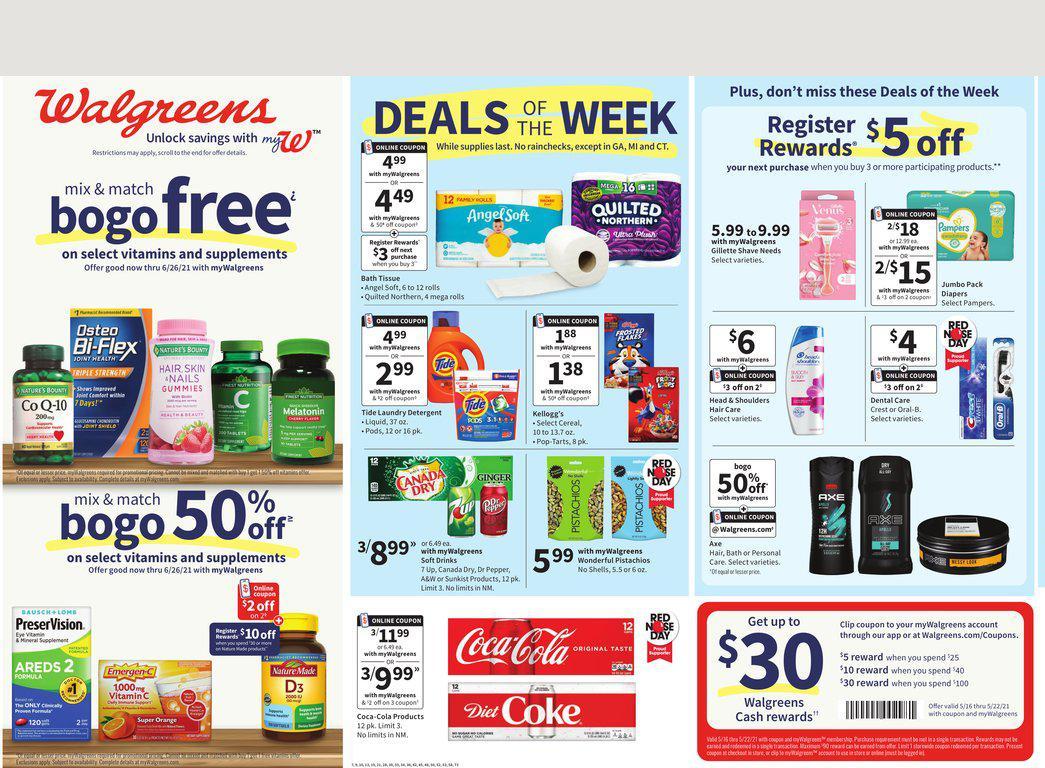 16.05.2021 Walgreens ad 1. page