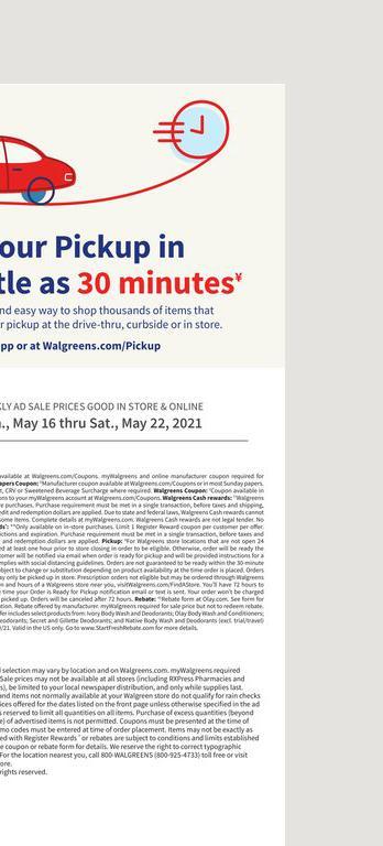 16.05.2021 Walgreens ad 20. page