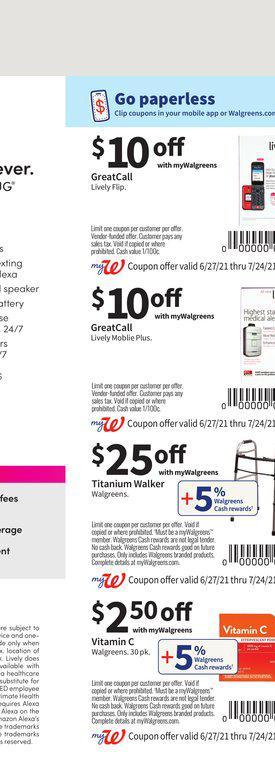27.06.2021 Walgreens ad 73. page