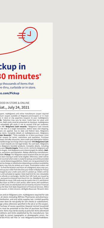 18.07.2021 Walgreens ad 20. page