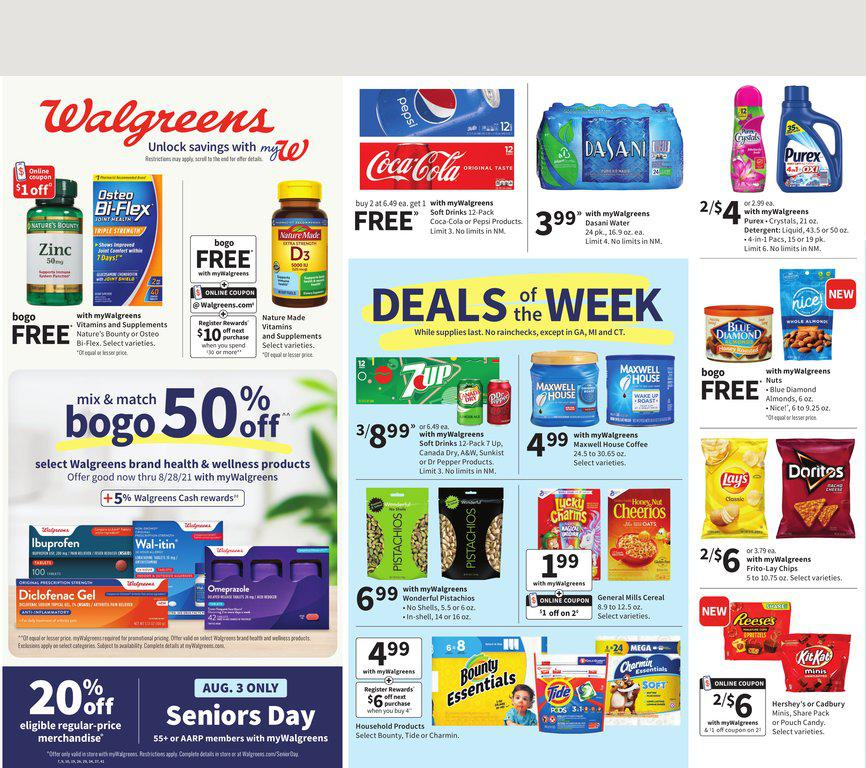 01.08.2021 Walgreens ad 1. page