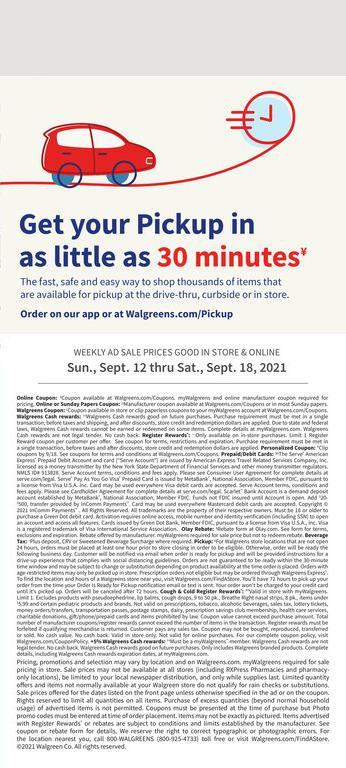 12.09.2021 Walgreens ad 22. page
