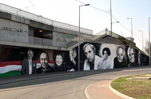 Budapest Murals –Hungarian Stars