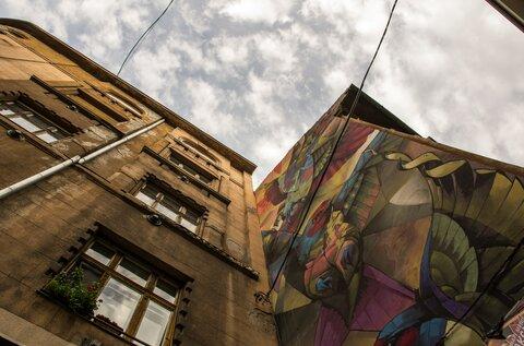 Budapest Murals –Swallows