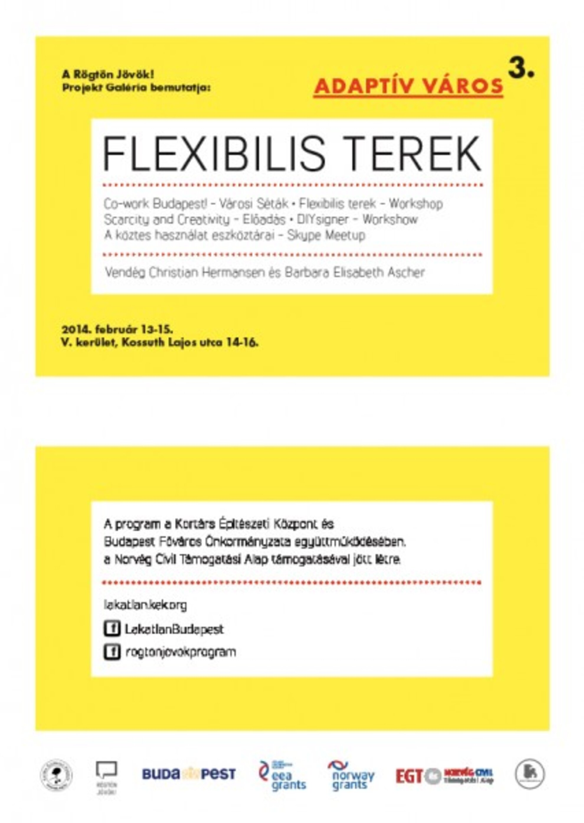 Adaptable City 3. - Flexible Spaces