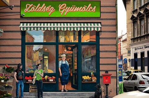 Budapest Murals – Greengrocer