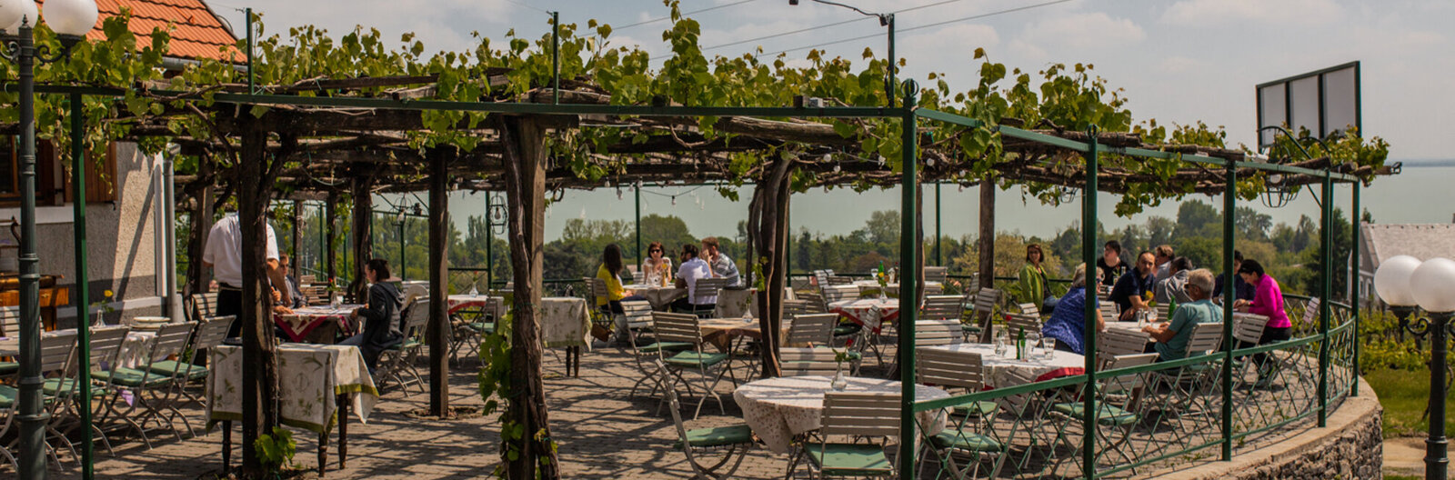 6 reconfigured dining destinations on Balaton's north shore
