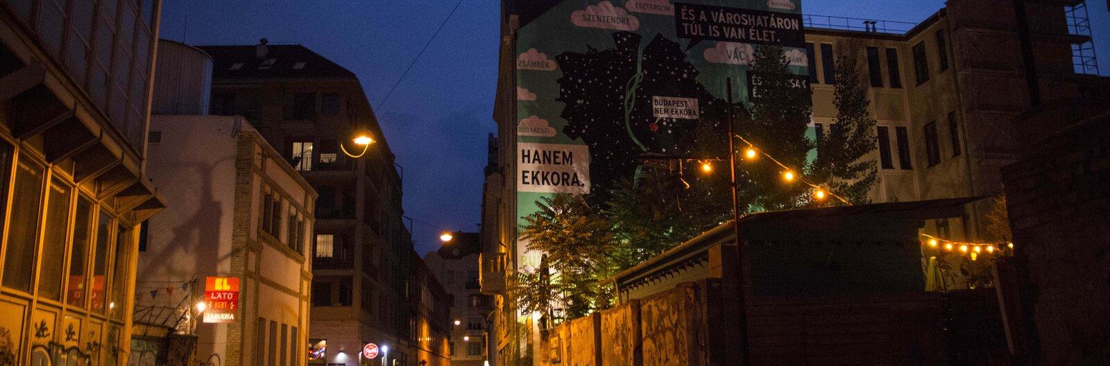 Egy alkoholmentes budapesti este - programtervek