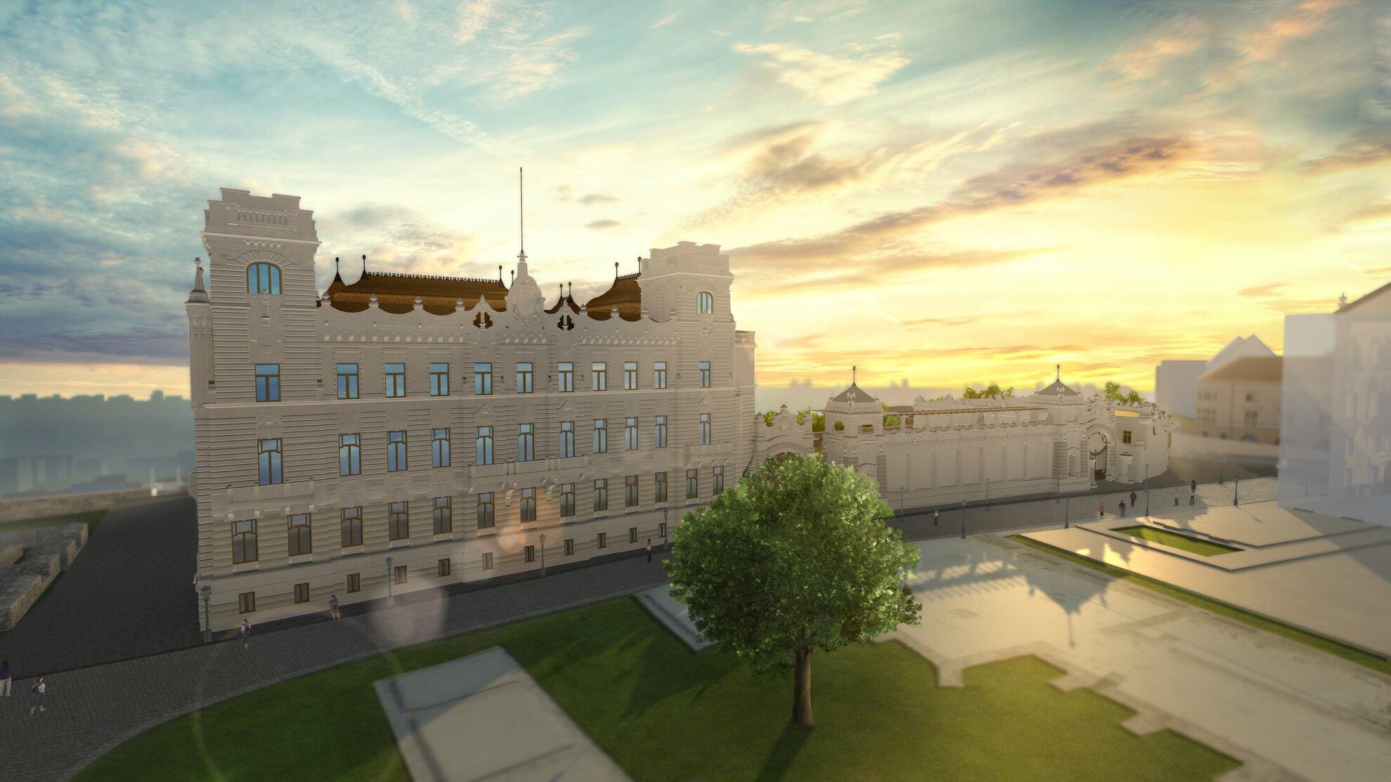 Újjáépítik a József főhercegi palotát a Budai Várban – mutatjuk a látványterveket