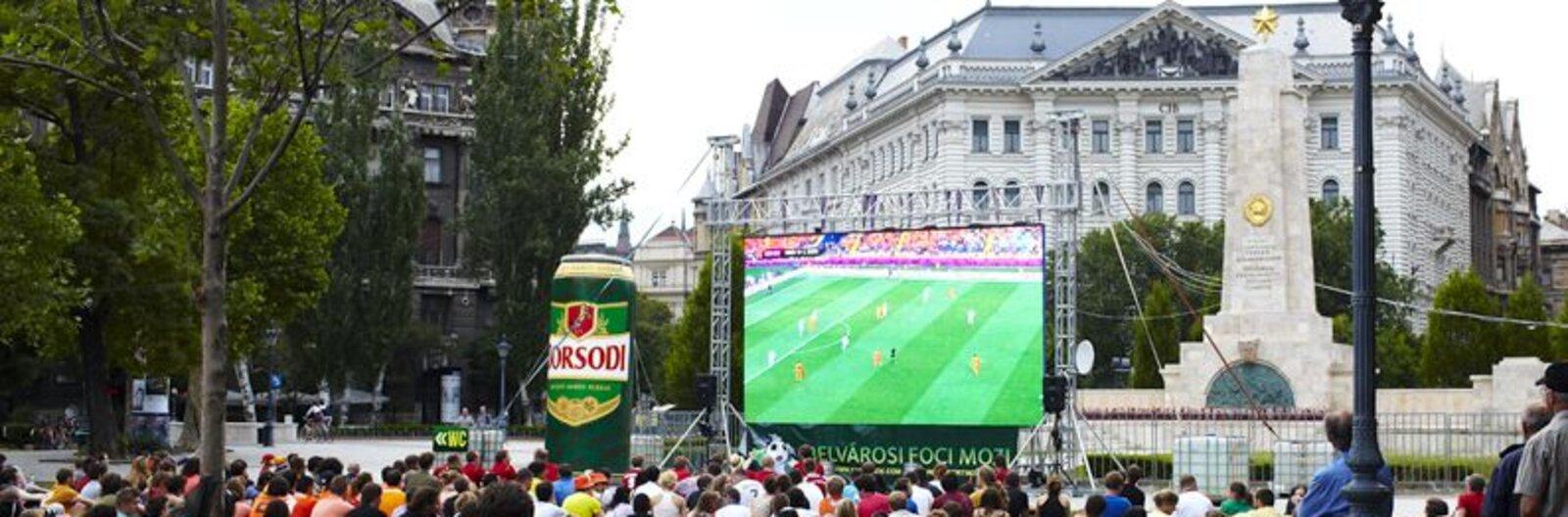 Meccset néznél? Szabadban? - íme a legjobb budapesti helyek