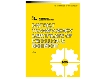 WWD Awarded the District Transparency Certificate of Excellence