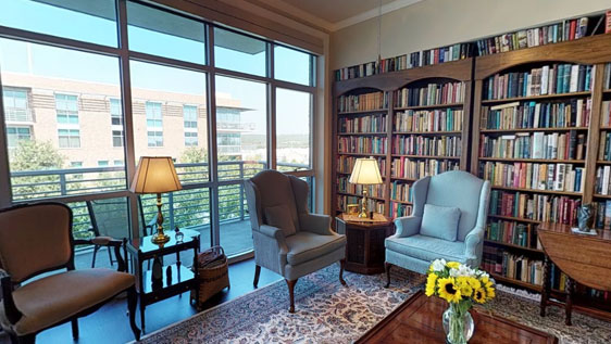 Library at Westminster senior living community