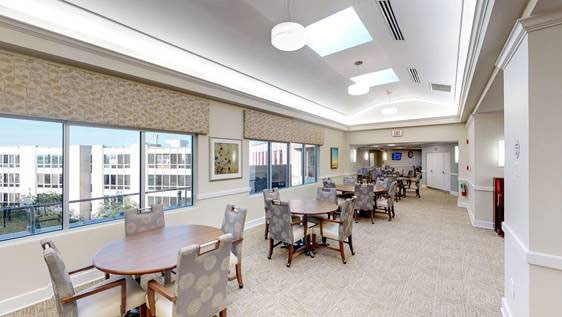 Dining room at Westminster retirement community