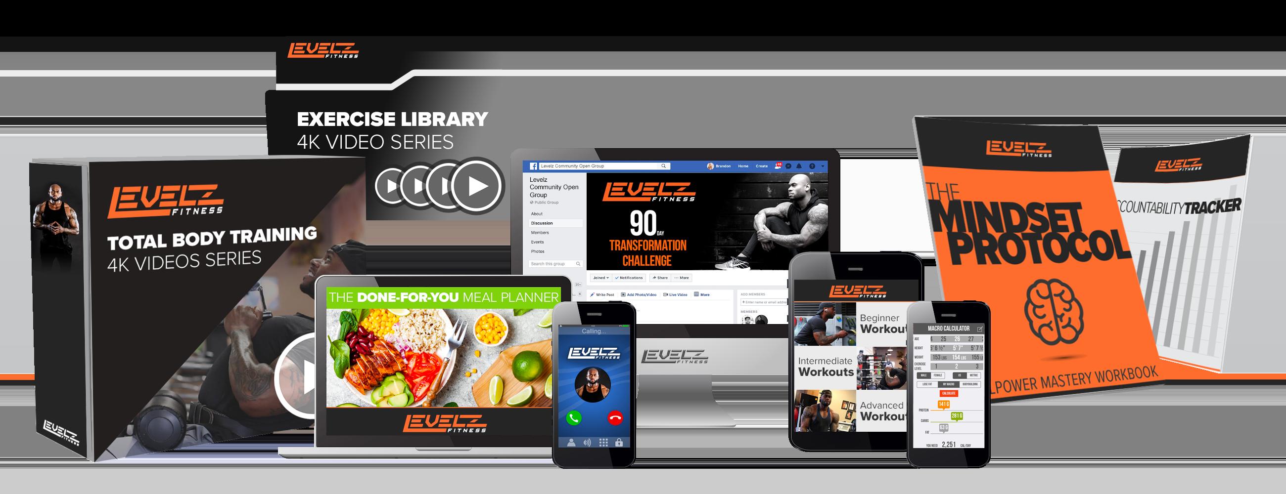 Corey Calliet Levelz Fitness 90 Day Program Contents