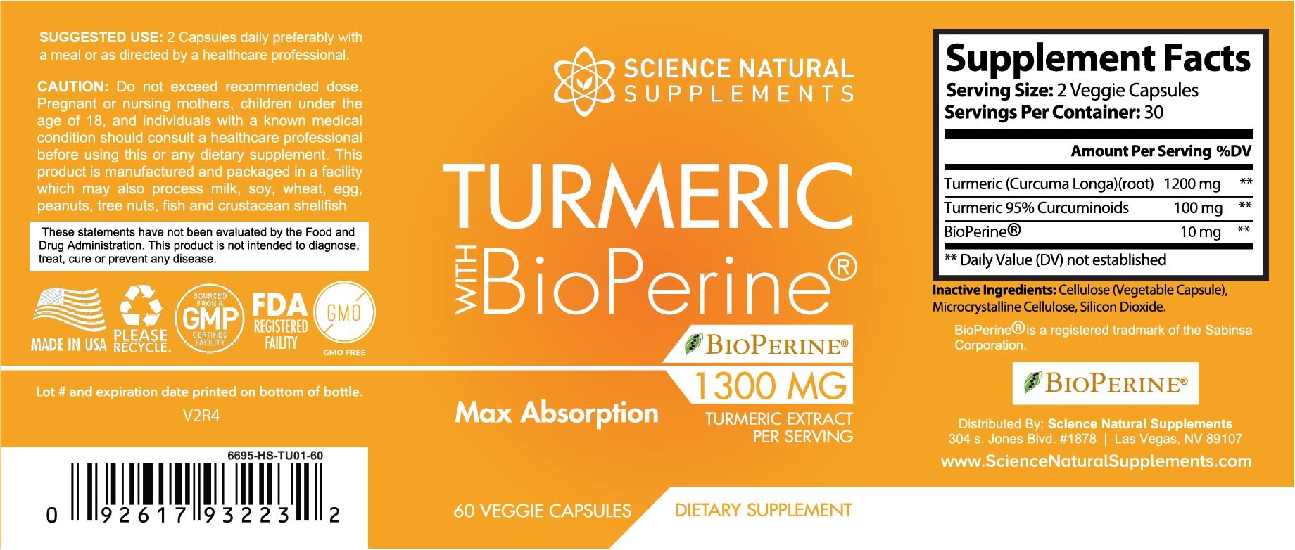 Turmeric with BioPeriene