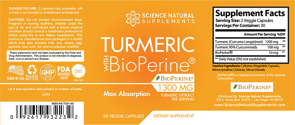 Turmeric with BioPeriene