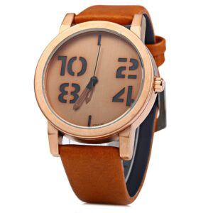 New Women Men Wristwatch PU Leather Quartz Fashion Clcok Watches Women