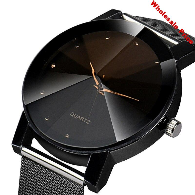 set auger mesh belt for men's and women's watches sell like hot cakes students quartz watch factory direct sale