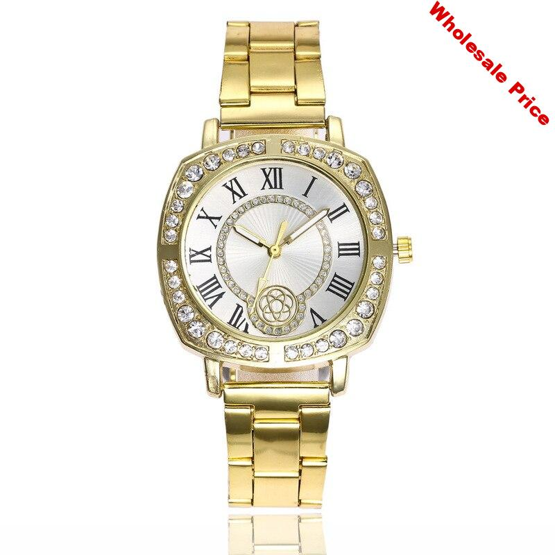 ladies steel band watch han edition the Roman character set auger quartz watch students watch factory direct sale