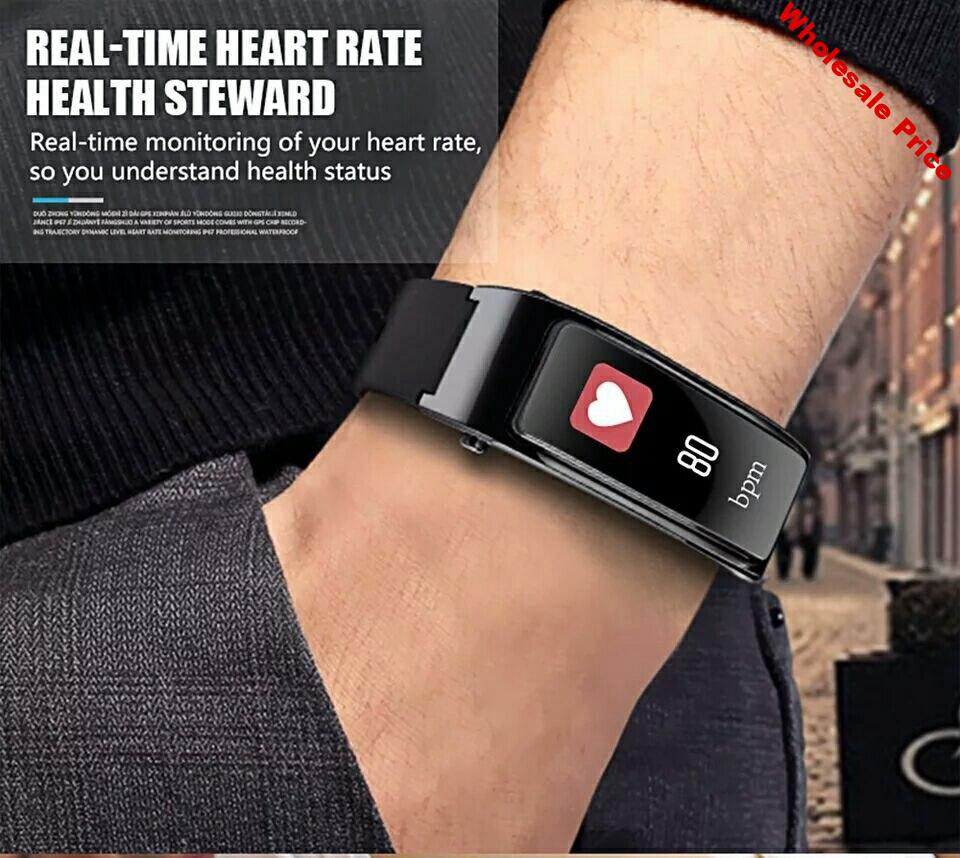 Sport Bluetooth Sport Men Smart Watch For Android iOS Phone With Earphone Heart Rate Monitor Women Smartwatch Refuse/Answer Call