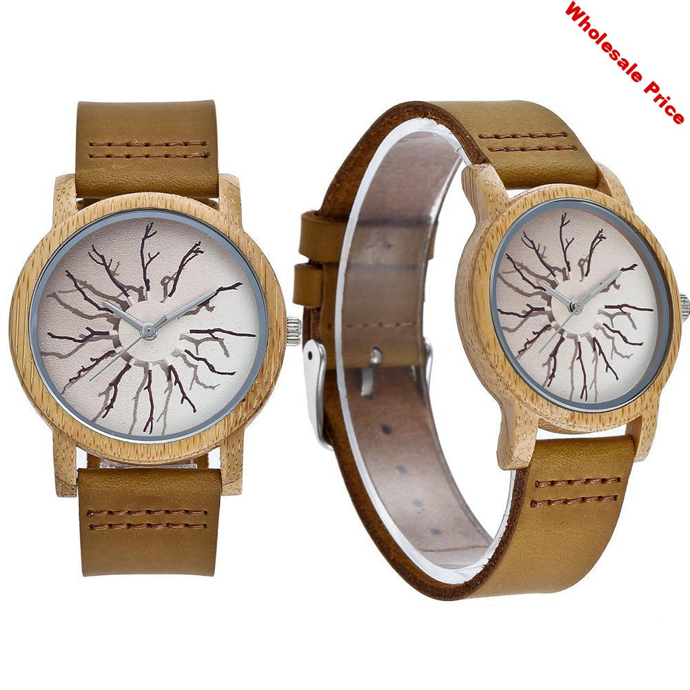 Couple Watches Top Brand High Quality Fashion Unisex Branch Pattern Round Watch reloj hombre reloj mujer montre fashion watches