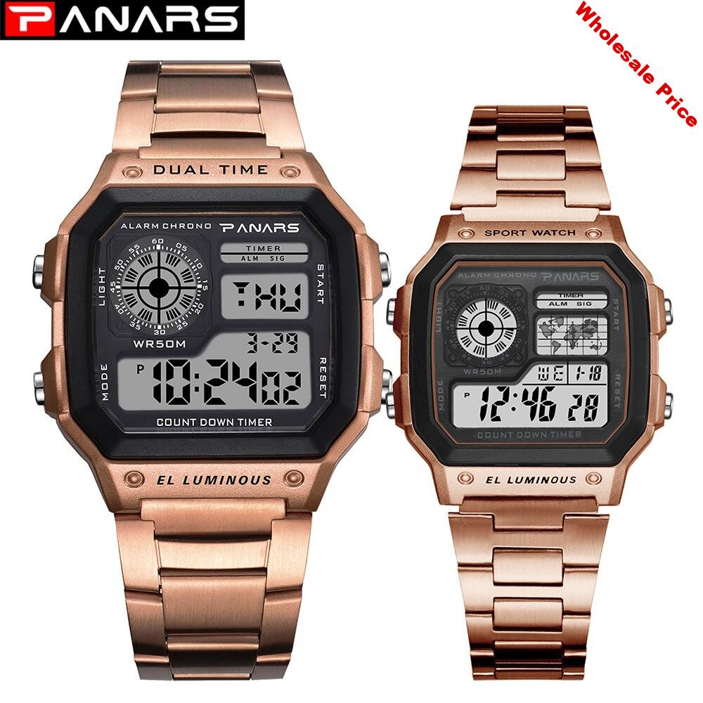 Military Sports Watches Electronic  Couples Watches Top Brand Women Men Clock Waterproof LED Digital Watch Relogio Masculino