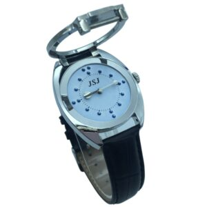 Braille Tactile Wrist Watch with Blue Face