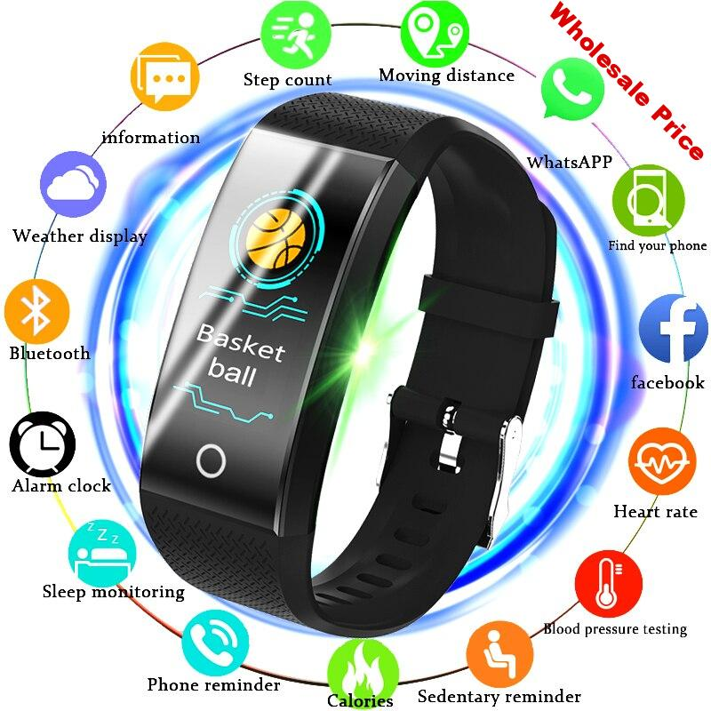 BANGWEI Fitness Smart Watch Men Women Pedometer Heart Rate Monitor Waterproof IP68 Swimming Running Sport Watch For Android IOS