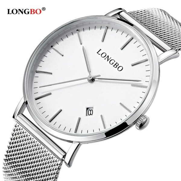 LONGBO Luxury Lovers Couple Watches Men Women Ultra Thin Stainless Steel Band  Quartz watch Waterproof Wristwatches Montre Homme