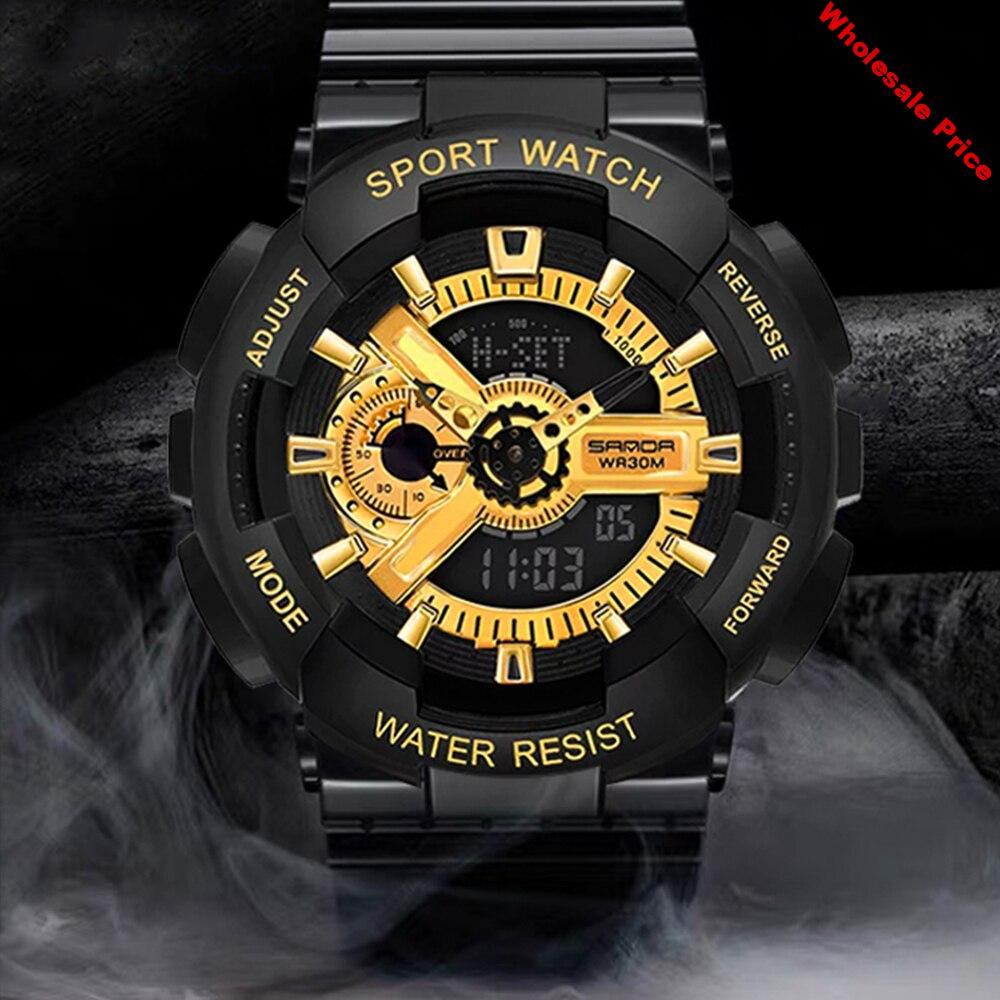 G style Shock Watches  Mens Woman Military Army Watch Led Digital Sports Wristwatch Couples Gift Analog Automatic Watches Male