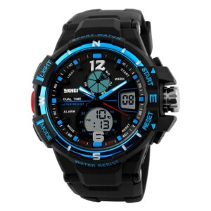 【USA Warehouse】Man Wristwatch Men's Sport Watch Water Resistant Rubber Strap Students Watches