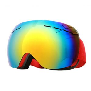 1pc Ski goggles Adults Anti-fog Large Spherical Impact Resistant Non slip