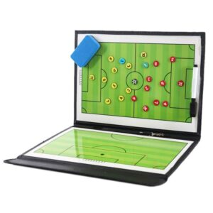 XSXS--Portable Trainning Assisitant Equipments Football Soccer Tactical Board 2.5 Fold Leather Useful Teaching Board