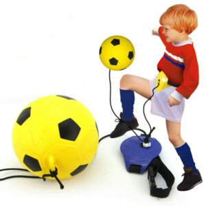 Indoor Outdoor Sports Assistance Waist Belt Football Trainer Set Fitness Toy Hands Free Interactive Play Kick With Inflator