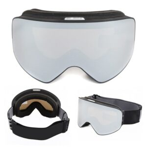 Ski Goggles Anti-Fog Double Layer Lens Frameless Windproof Snow Skate Goggles HB88