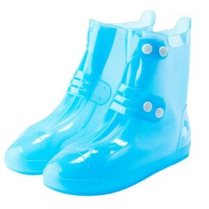 Outdoor Rain Boots Waterproof Thick Wear-resistant Non-slip Bottom Adult Men and Women Blue Ankle Boots