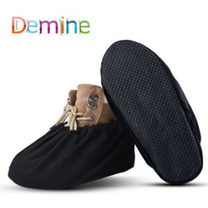Demine Indoor Dust Proof Shoes Covers Adult Waterproof Washable Reusable Flat Ankle Boots Cover Men Women Overshoes Accessories